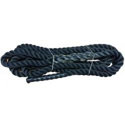 Cordage noir Ø18 mm pour benne à tuyau d'une longueur de 5m